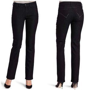 NYDJ Petite Sheri Black Stretch Skinny Jean